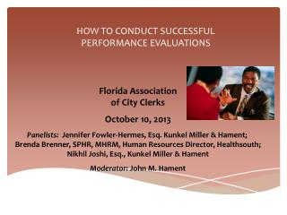 HOW TO CONDUCT SUCCESSFUL PERFORMANCE EVALUATIONS
