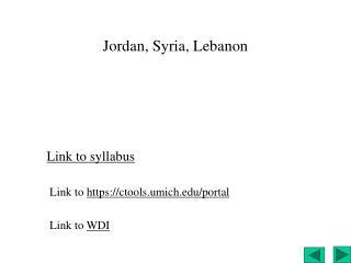 Jordan, Syria, Lebanon