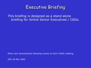 executive briefing