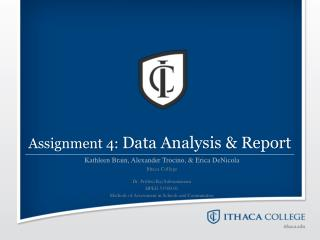 Assignment 4:  Data Analysis & Report