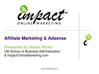 Affiliate Marketing &  Adsense
