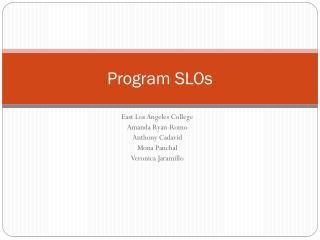 Program SLOs