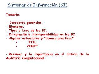 Sistemas de Información (SI)