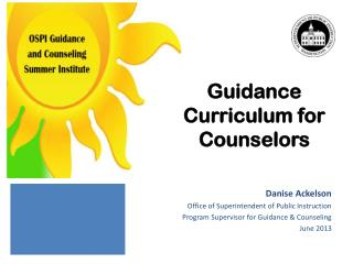 Guidance Curriculum for Counselors