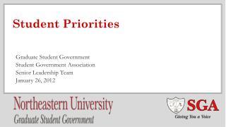 Student Priorities