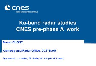 ka-band radar studies cnes pre-phase a  work