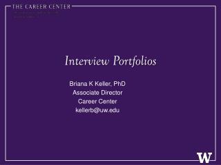 Interview Portfolios