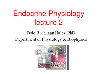 endocrine physiology lecture 2