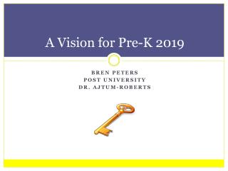 A Vision for Pre-K 2019