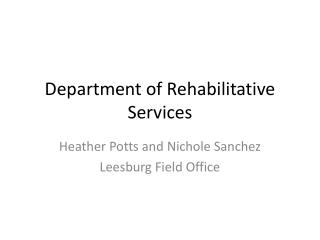Department of Rehabilitative Services