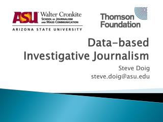 Data-based  Investigative Journalism