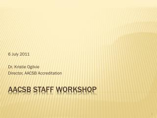 AACSB STAFF Workshop