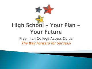 High School – Your Plan – Your Future