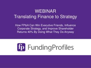 WEBINAR Translating Finance to Strategy