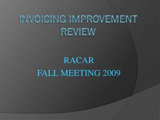 Invoicing Improvement Review
