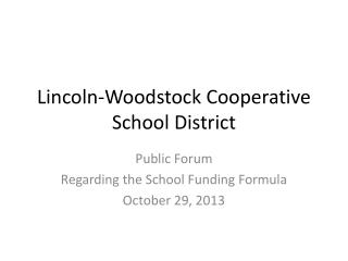 Lincoln-Woodstock Cooperative School District