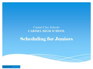 Carmel Clay Schools CARMEL HIGH SCHOOL