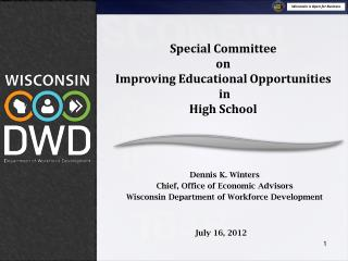 Special Committee  on  Improving Educational Opportunities  in  High School