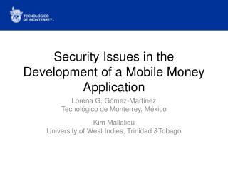 Security Issues in the Development of a Mobile Money Application