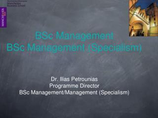 BSc Management  BSc Management (Specialism)