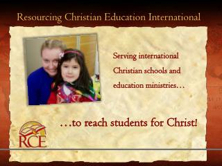 Resourcing Christian Education International