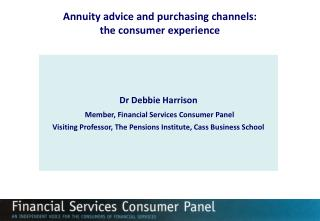 Annuity advice and purchasing channels: the consumer experience
