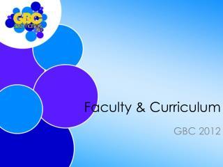 Faculty & Curriculum