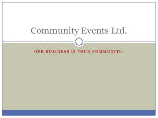 Community Events Ltd.