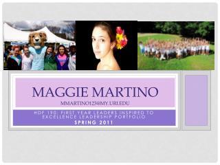 Maggie Martino Mmartino123@my.uri.edu