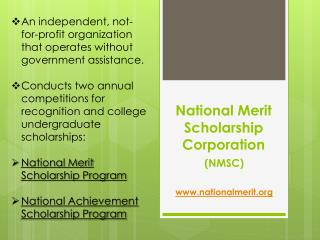 National Merit Scholarship Corporation