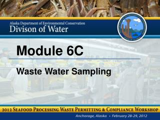 Module 6C Waste Water Sampling