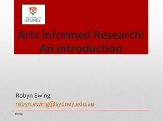 Arts informed Research : An Introduction