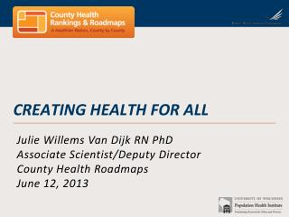 Creating health for all