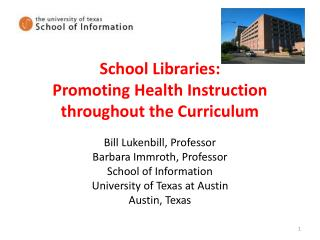 School Libraries: Promoting Health Instruction throughout the Curriculum