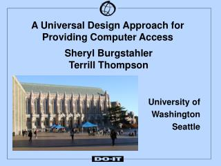 A Universal Design Approach for Providing Computer Access