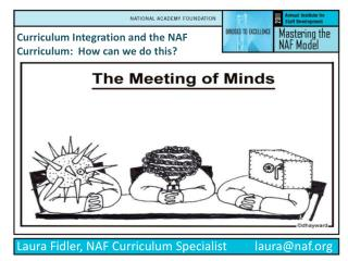 Curriculum Integration and the NAF Curriculum:  How can we do this?