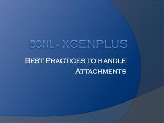 BSNL -  XgenPlus