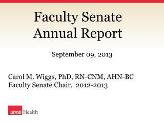 Faculty Senate  Annual Report