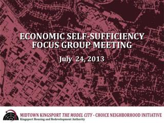 ECONOMIC SELF-SUFFICIENCY FOCUS GROUP MEETING July   24, 2013