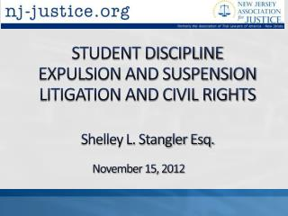 STUDENT DISCIPLINE EXPULSION AND SUSPENSION LITIGATION AND CIVIL RIGHTS