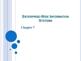 Enterprise-Wide Information Systems