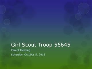 Girl Scout Troop 56645
