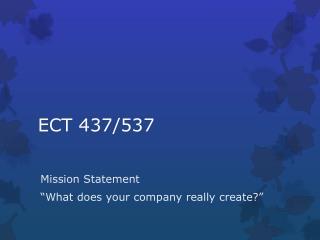 ECT 437/537