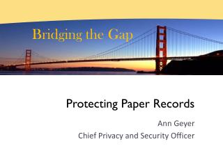 Protecting Paper Records