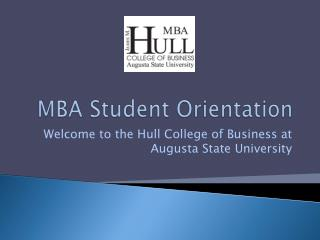 MBA Student Orientation