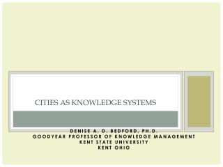 Cities as Knowledge Systems