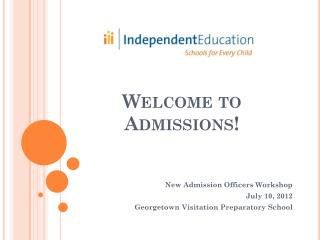 Welcome to Admissions!