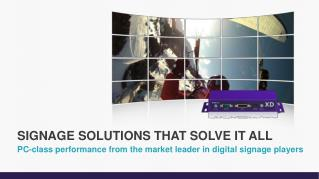PC-class performance from the market leader in digital signage players
