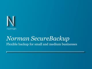 Norman SecureBackup