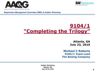 """9104/1 """"Completing the Trilogy"""""""